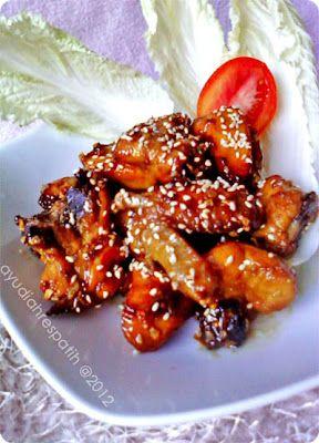 Ayam Goreng Madu Tabur Wijen Resep Ayam Resep Masakan Indonesia Ayam Goreng