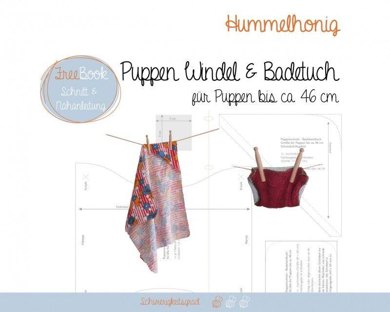 Puppen WIndel und Badetuch | Freebook\'s Spielzeug, Puppen etc. nähen ...