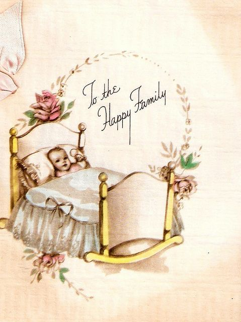 Vintage Baby Greeting Card Baby Greeting Cards Vintage Greeting Cards Vintage Baby