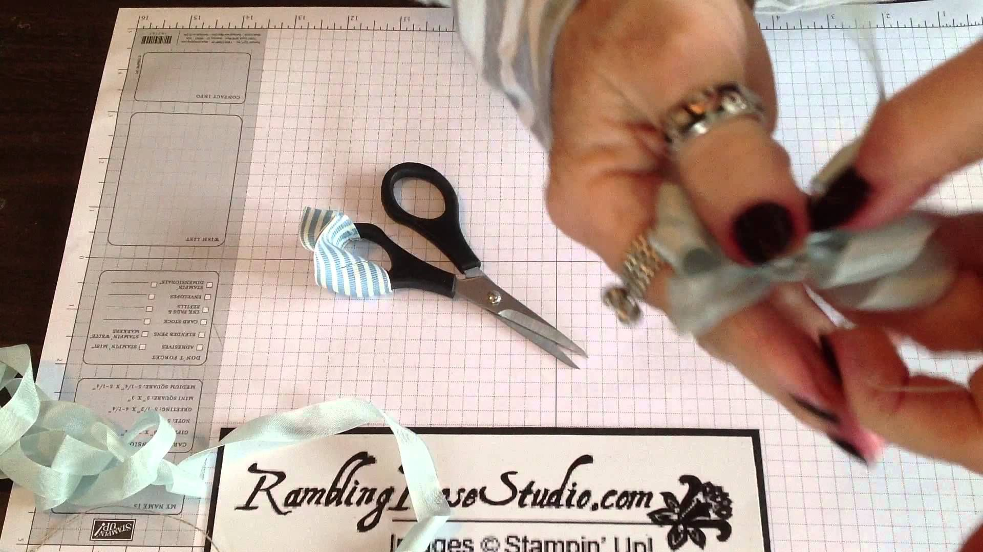 Making beautiful bows with linen thread and seam binding to compliment your handmade cards and projects