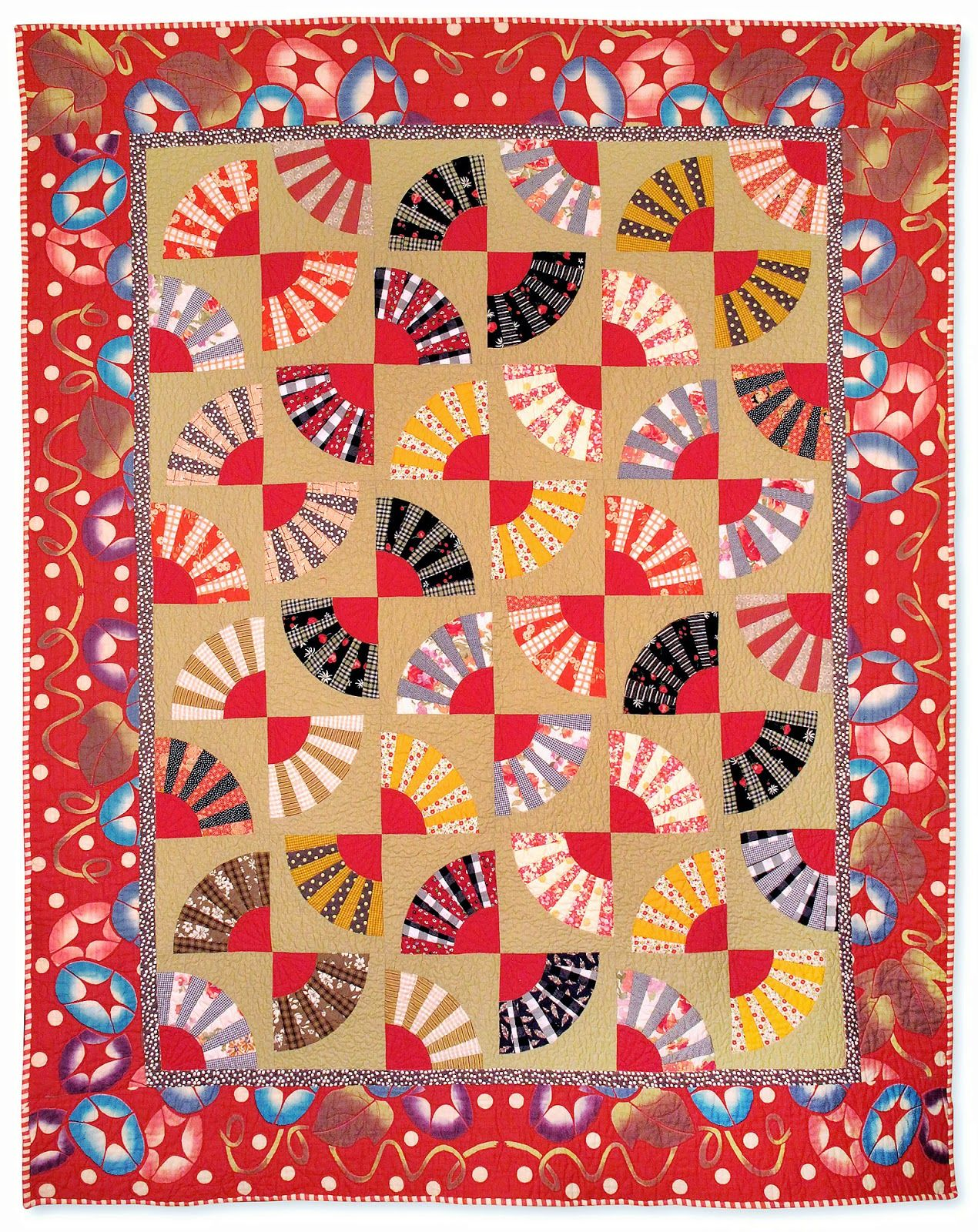 nifty quilts: A finish, a stencil, and a birthday!