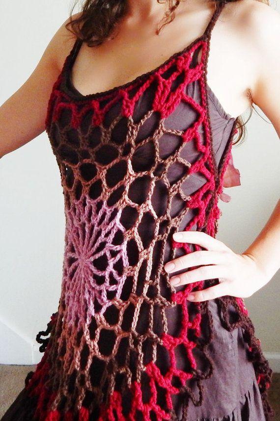 Crochet Pattern Mandala Top Romantic Hippie Festival Tank Top