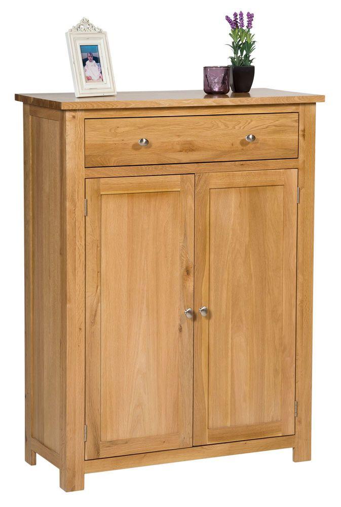 Large Oak Shoe Storage Cabinet   Wooden Hallway Cupboard/Organiser with Drawer  sc 1 st  Pinterest & Large Oak Shoe Storage Cabinet   Wooden Hallway Cupboard/Organiser ...