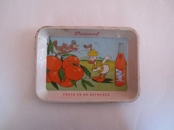 Vintage Donald Duck Mexican Cartoon Tin Tray by ThePendulum