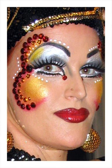 Full Face Carnival Makeup Carnival Makeup Designs Mit Bildern