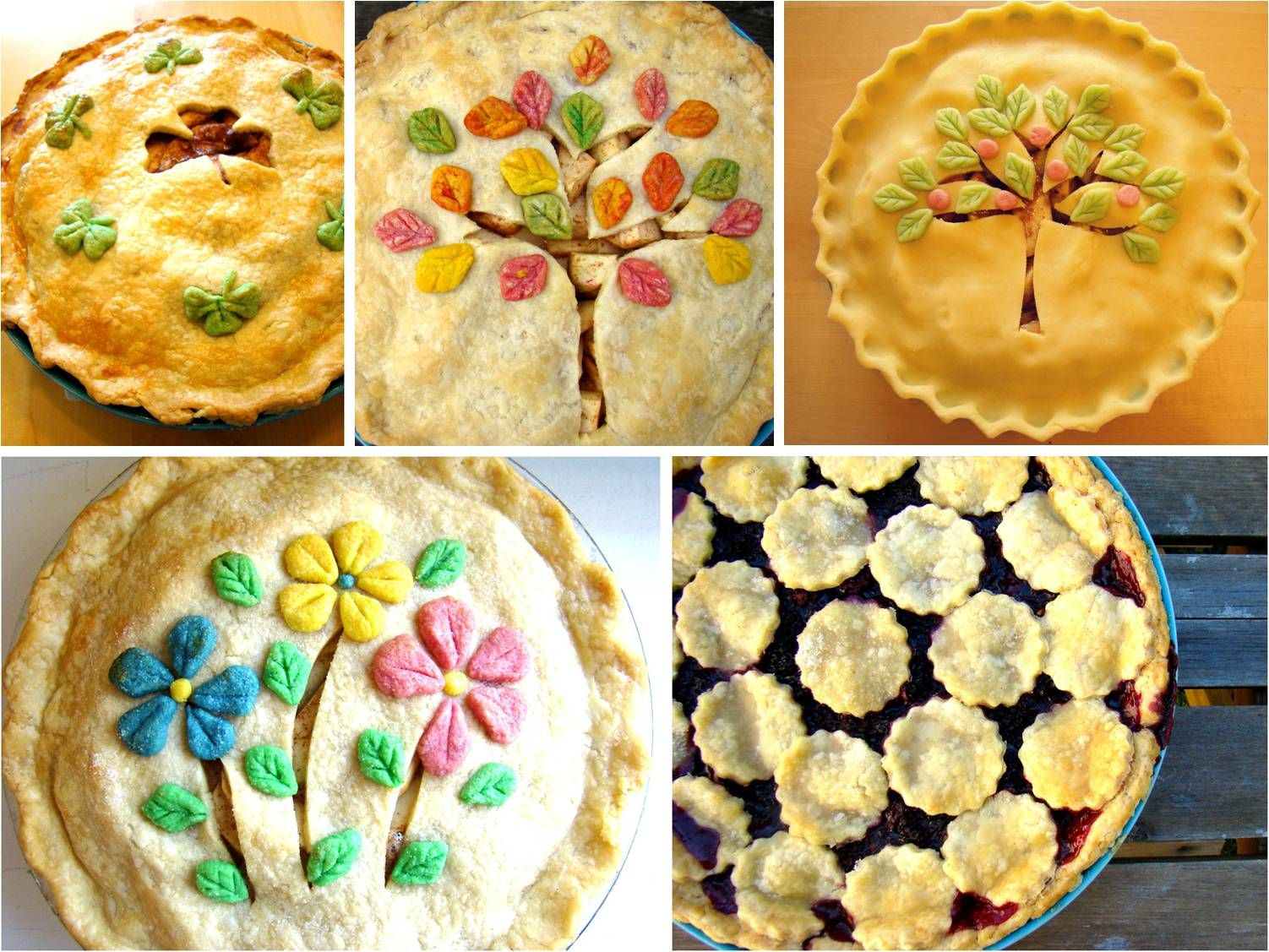Decorated Pies - LOVE it!