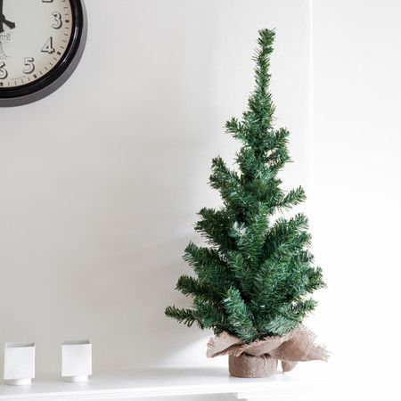 75cm Mini Artificial Christmas Tree With Burlap Base By Lumineo