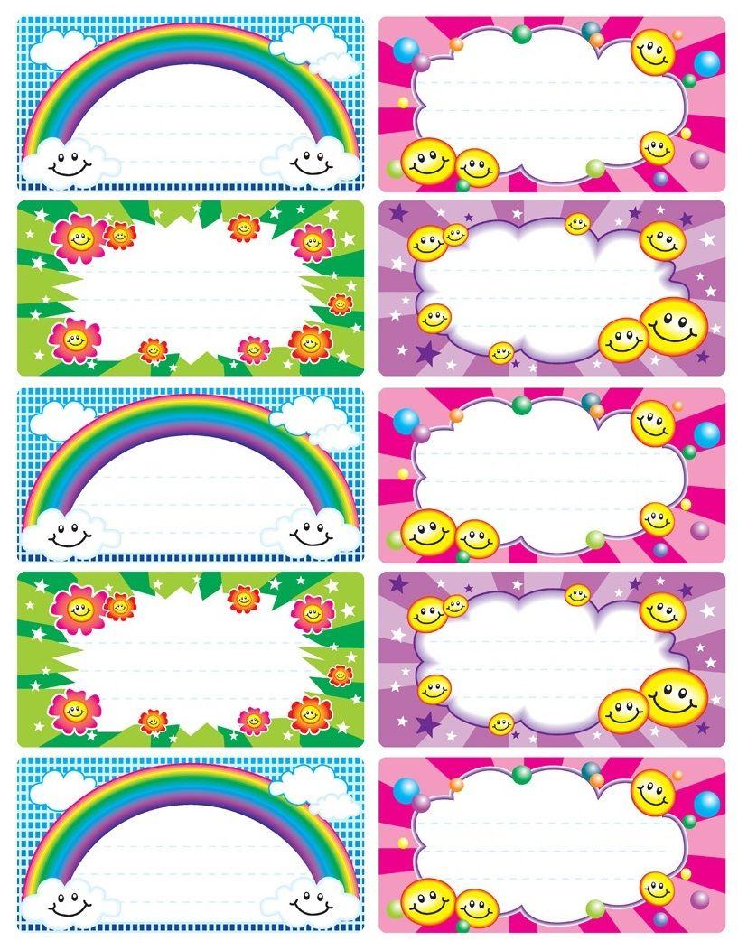 Bien-aimé Etiquettes école pour enfant à imprimer et remplir | étiquettes  DI28