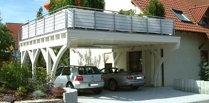 balkon carport das begehbare carport autotalli pinterest. Black Bedroom Furniture Sets. Home Design Ideas
