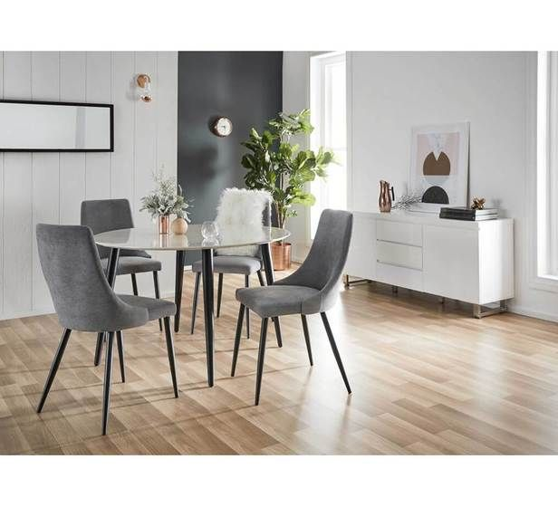 Monaco 4 Seater Dining Table 4 Seater Dining Table Dining Room Small Round Marble Dining Table