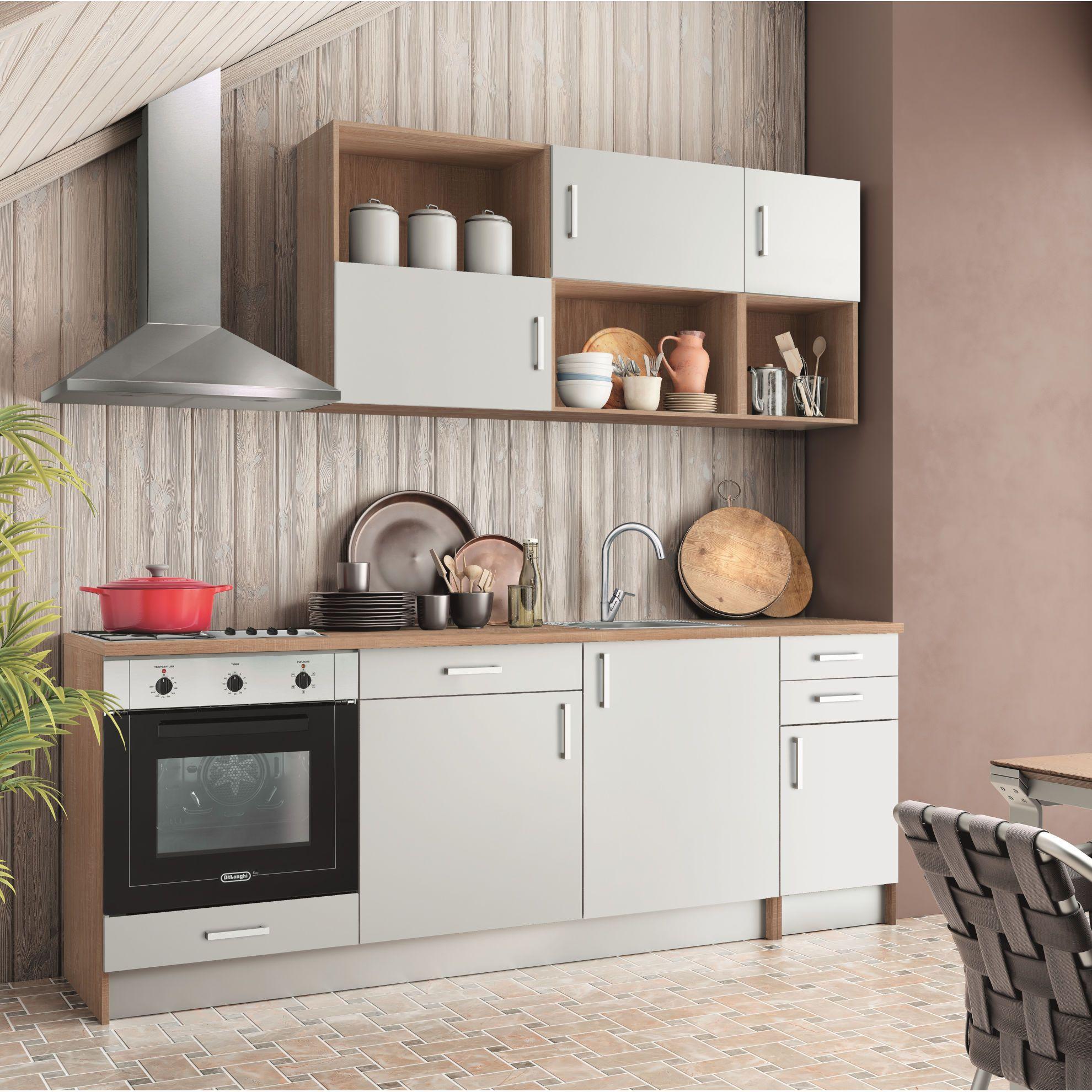 Cucina One bianco L 220 cm | Kitchen cabinets, Kitchen, Home ...