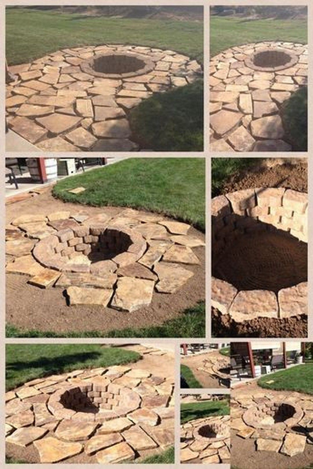 lawnmaintenance   Backyard fire, Fire pit backyard, Stone fire pit