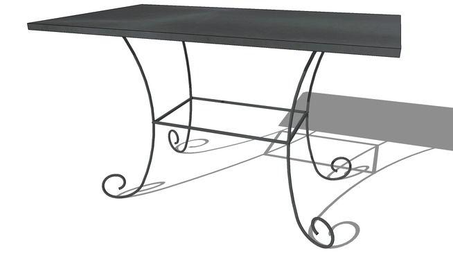 Table ST GERMAIN noire, Maisons du monde, réf 129.979, prix :129€ - 3D Warehouse