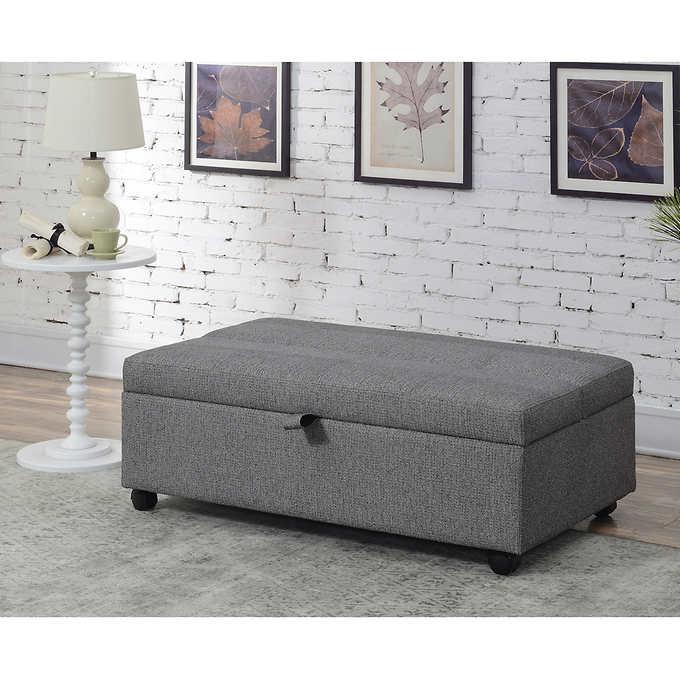 Drayper Sleeper Ottoman Otomano Costco Sillones Sleeper ottoman with memory foam mattress