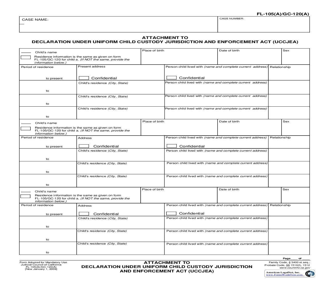 This is a California form that can be used for Family Law ...