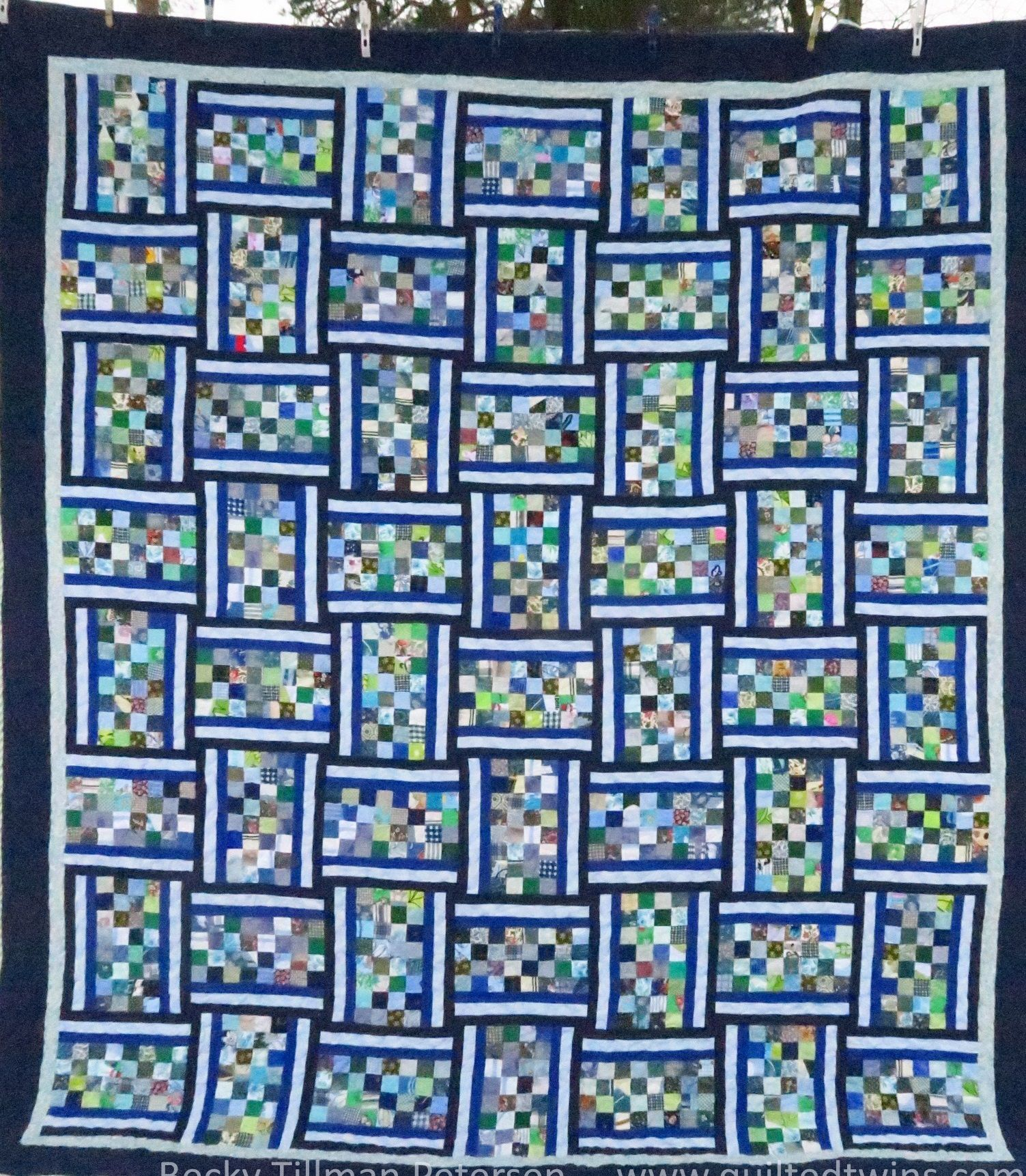 Banded Checkerboards Free Quilt Pattern. King/Queen Size Quilt ... : queen size quilt patterns free - Adamdwight.com