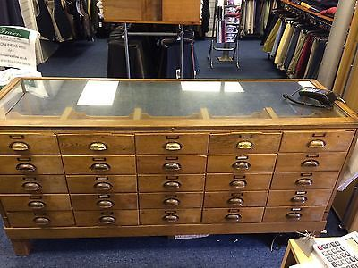 Vintage Haberdashery Haberdashers Display Cabinet With