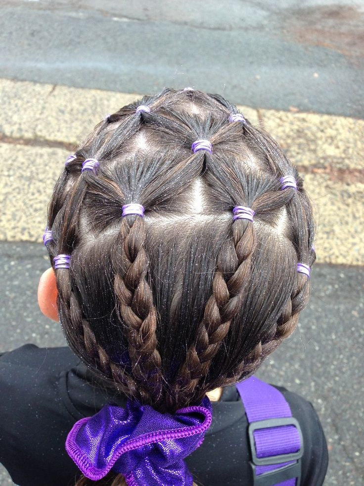 Awesome Hairstyle For Sports Gymnastics Hair
