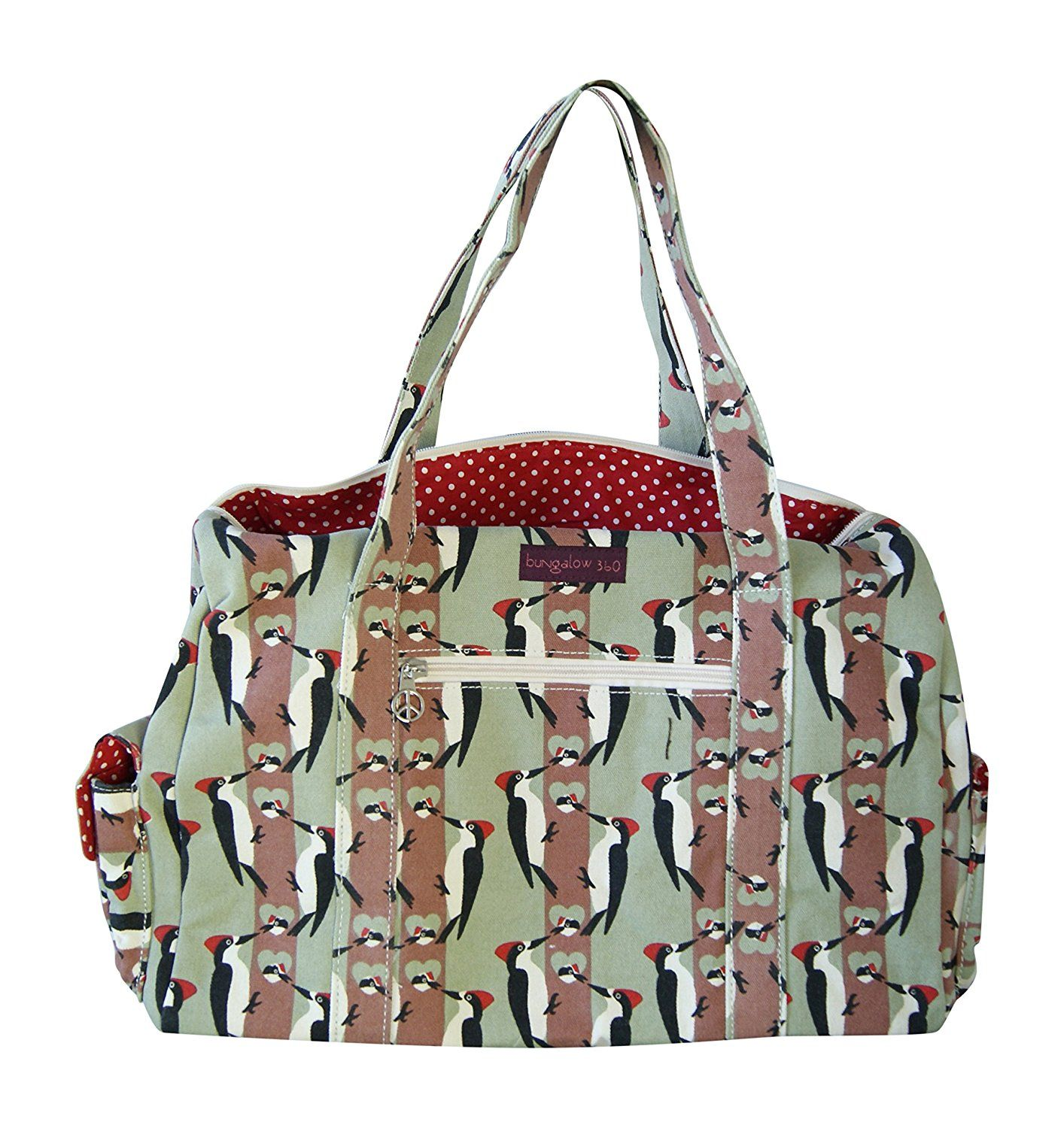 Bungalow360 Vegan Cotton Canvas Duffle Gym Bag * Read more  at the image link. (This is an Amazon Affiliate link and I receive a commission for the sales)