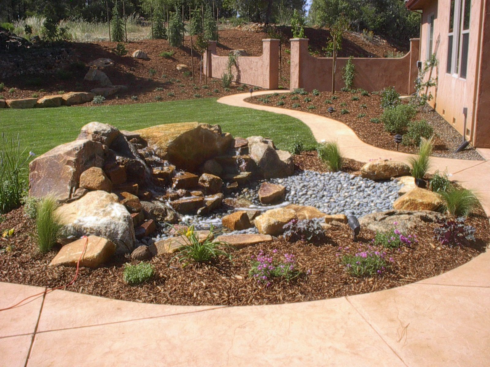 Beautiful Custom Waterless Pond By Ted Thayer And Signature Landscapes Lawn And Landscape Lawn Yard Decor