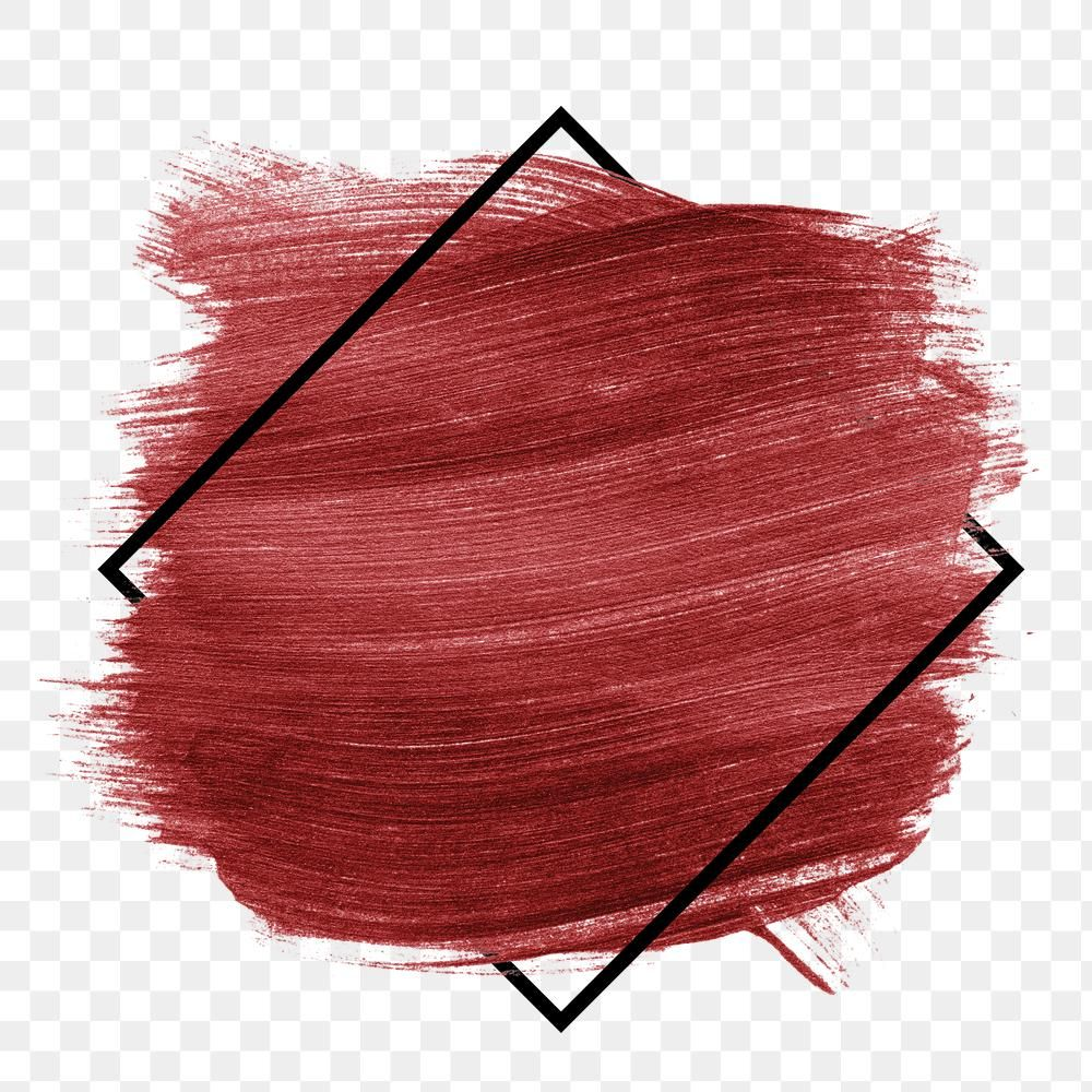 Matte Maroon Red Brush Stroke With Black Frame Free Image By Rawpixel Com Karn Brush Stroke Png Red And Black Background Brush Strokes