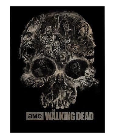 Walking Dead Throw Blankets Another Great Find On #zulily Walking Dead Zombie Skull Fleece