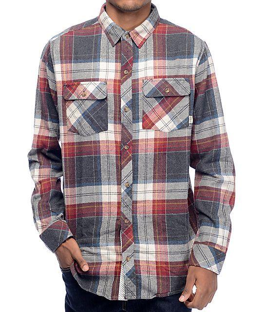 Dravus Murphy Burgundy, Charcoal & Oat Flannel Shirt | Flannel ...