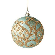 Williamsburg® Regency Teal Ball Ornament