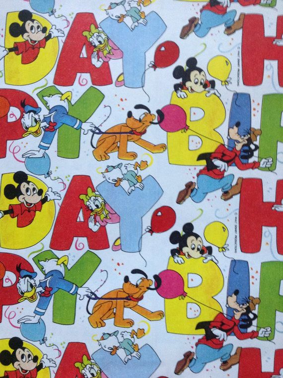Vintage+Walt+Disney+Mickey+Mouse+Happy+Birthday+by+BirchTreeLane ...