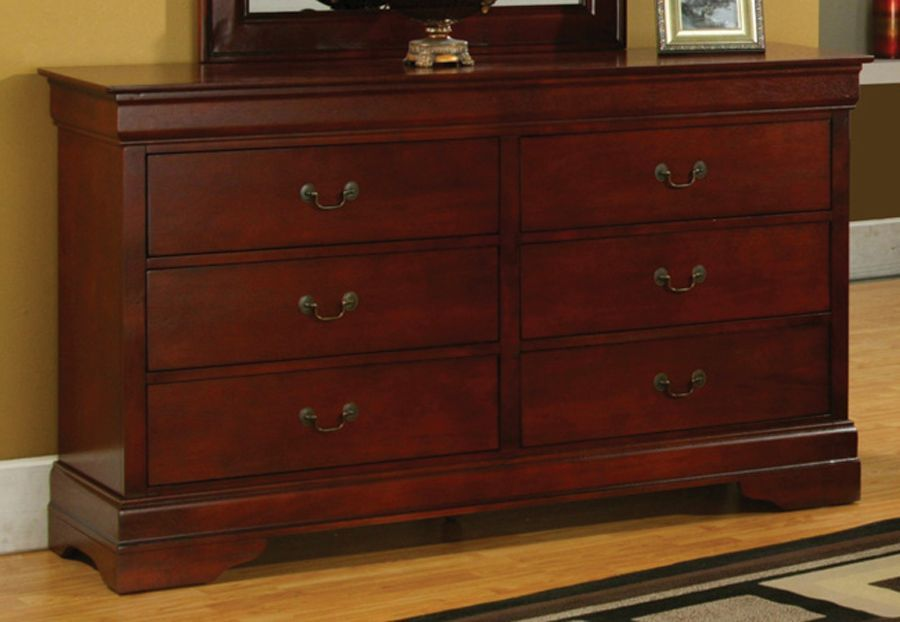 coaster louis philippe dresser in cherry 200433r