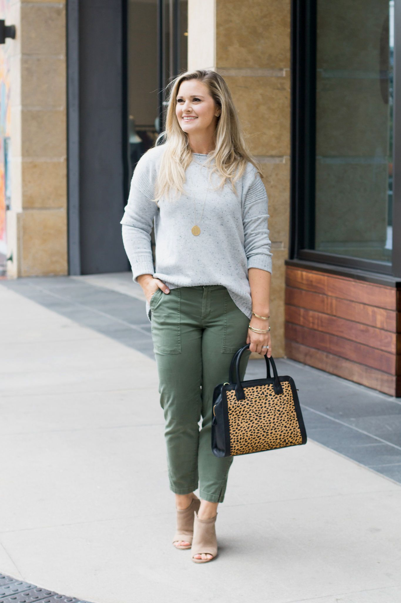 How To Style A Gray Sweater For Fall Peaches In A Pod