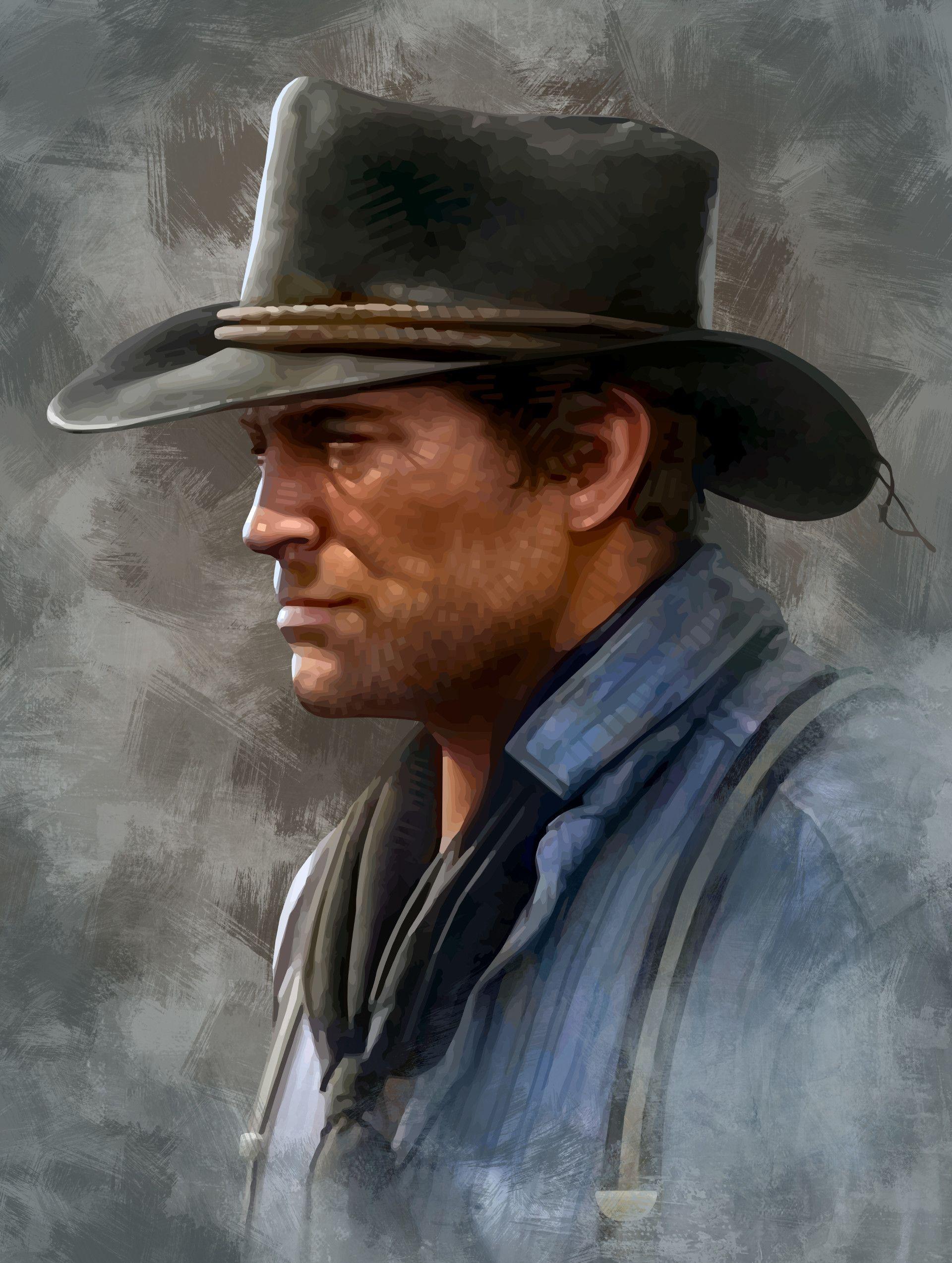 ArtStation Portrait of Arthur (Red Dead