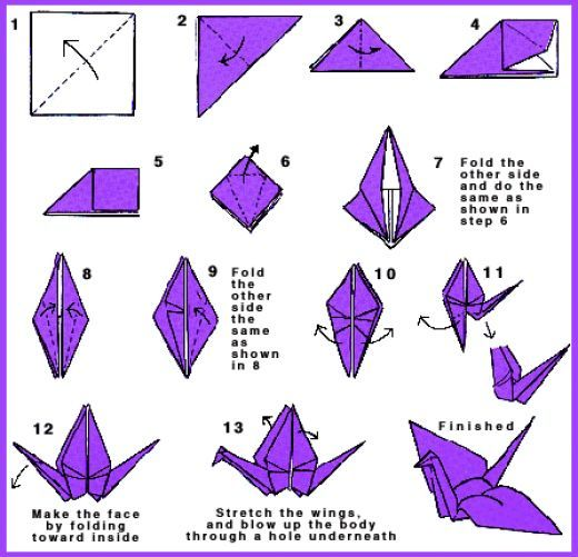 Origami Crane How To Make Origami Paper Crane Origami Patterns