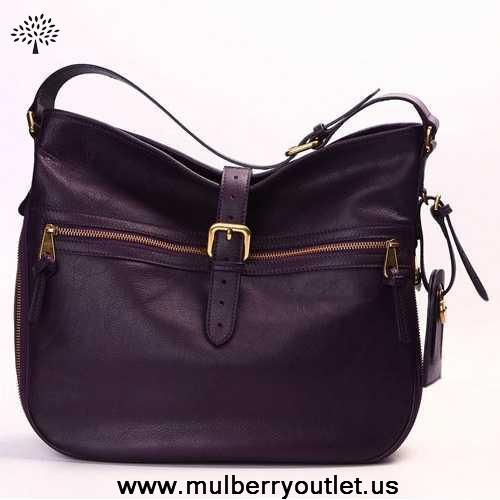55fd2d1a83 Womens Mulberry Mabel Leather Hobo Bag Purple For Black Friday ...