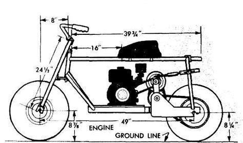 Trail Mini Bike Frame Plans | Mini bike | Pinterest | Mini bike ...