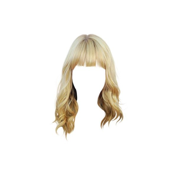 Behrs1d1112 Png 400 489 Liked On Polyvore Featuring Hair Dolls Doll Hair Wigs And Doll Parts Hair Blonde Hair With Bangs Hairstyles With Bangs