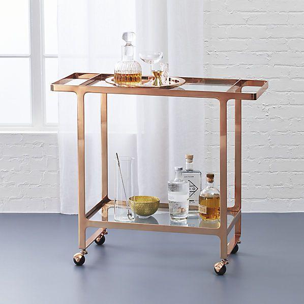 Awesome Cb2 Bar Table #13 - $299 Dolce Vita Bar Cart   CB2