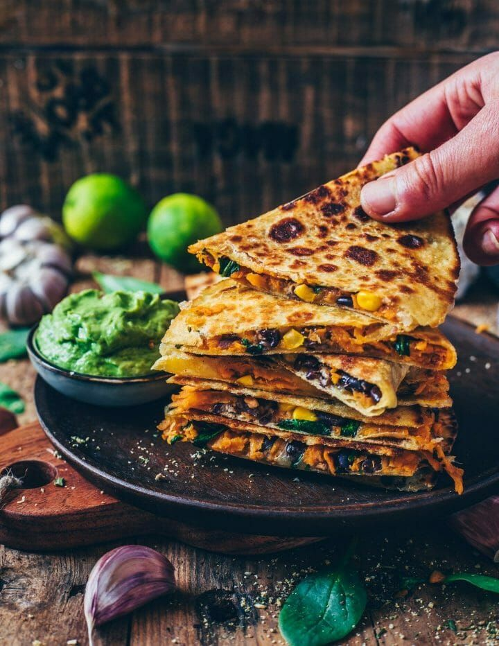 Quesadillas di patate dolci (vegan