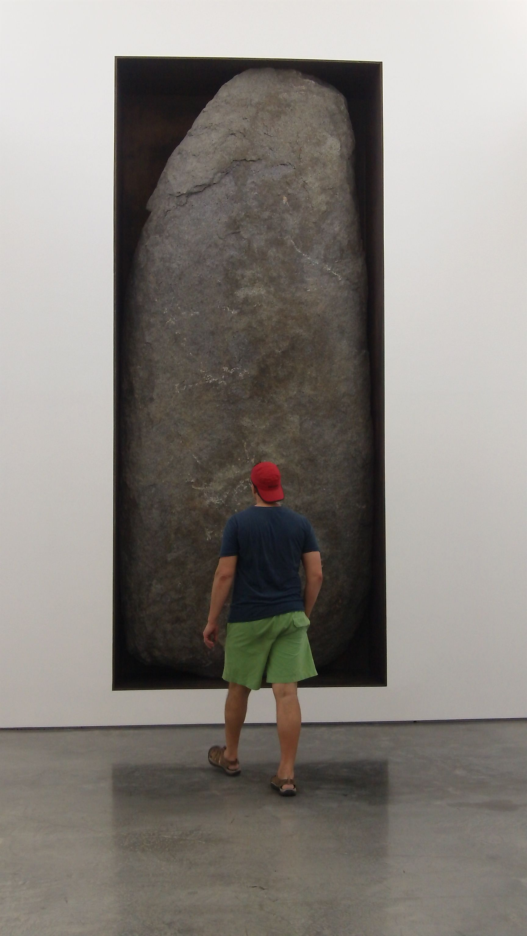 I love Michael Heizer's big rock in the wall at Dia Beacon