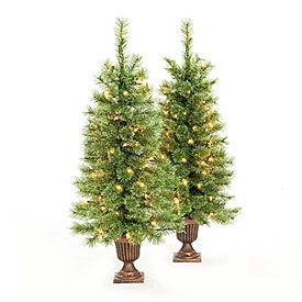 find this pin and more on christmas decorations by inkgirljt view 35 pre lit artificial urn trees cashmere with clear lights deals at big lots - Big Lots Pre Lit Christmas Trees