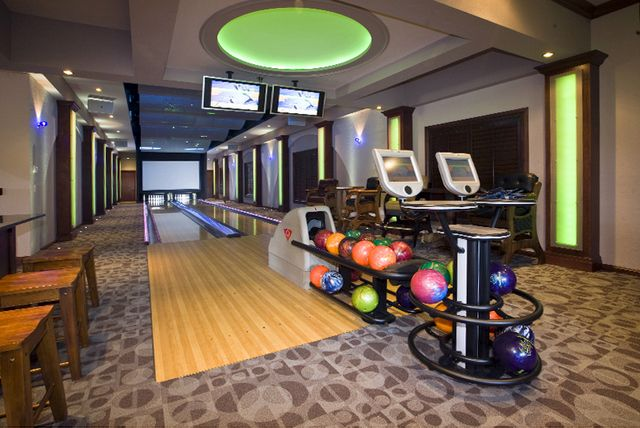 A bowling alley is a must have to entertain friends for House plans with bowling alley