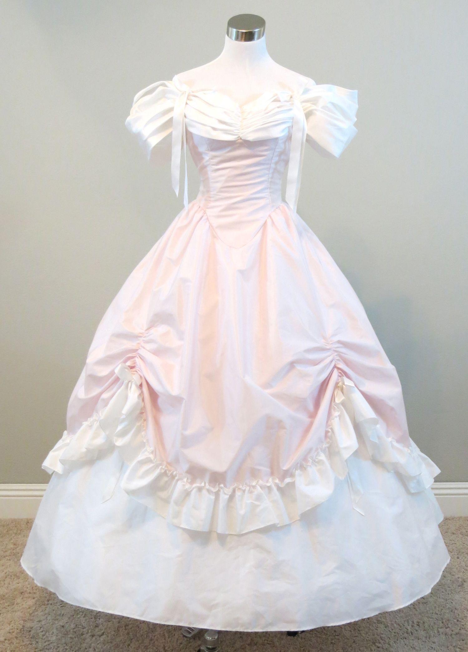 Pink & White Gown (waist - 24\