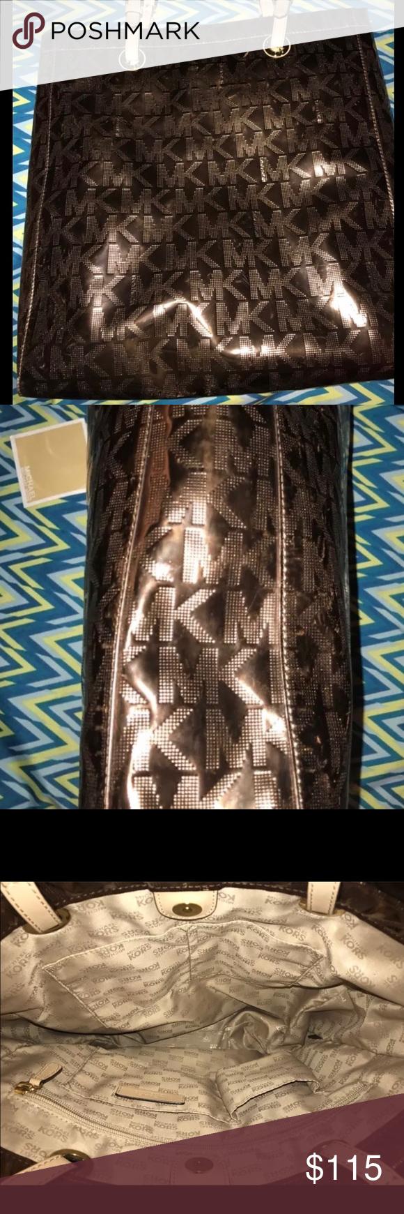 Brown Mirror Michael KORS Bag 💼 Beautiful Clean Condition Michael Kors Bags Shoulder Bags
