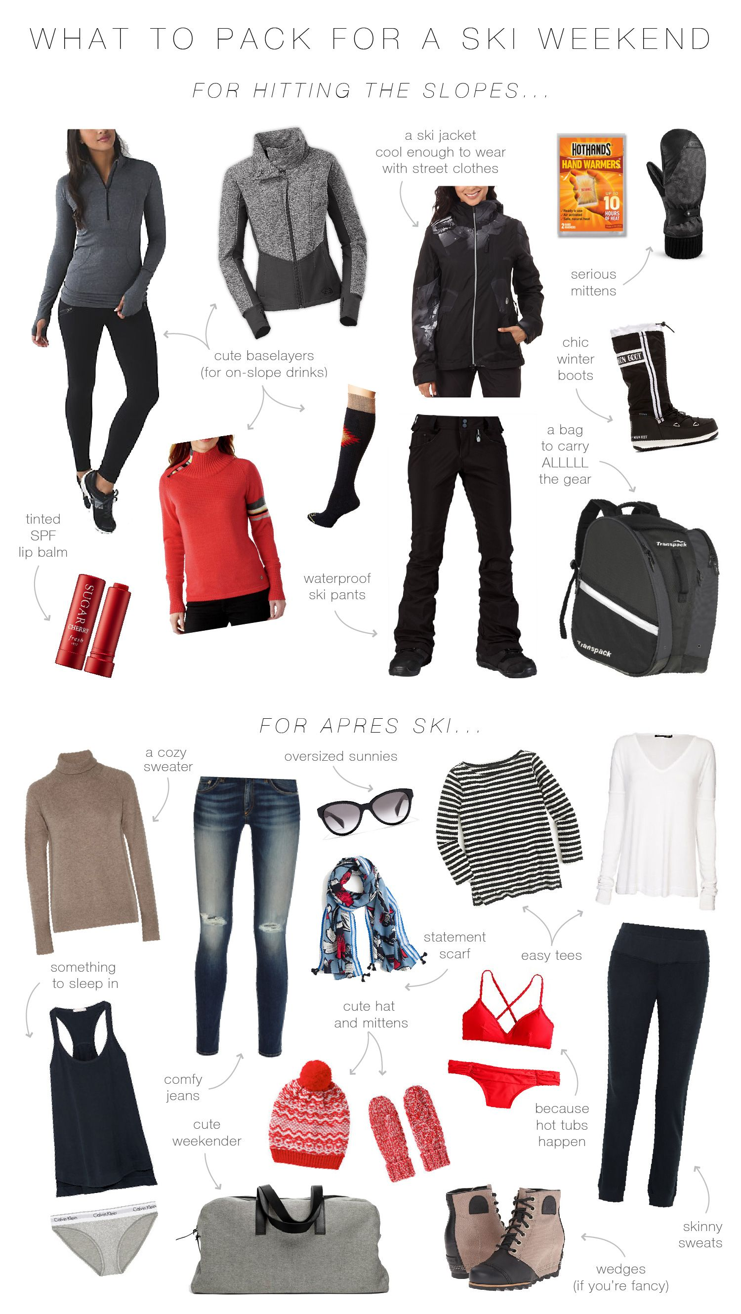 f5d089e95c What To Wear and Pack For a Ski Weekend | Travel Ideas | Ski trip ...