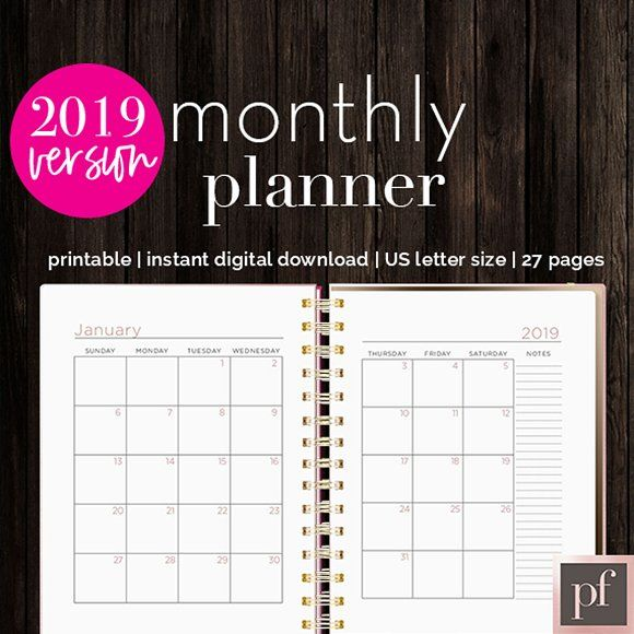 Monthly Planner Indesign Template By Indesign Templates On