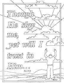 Job 13 15 Coloring Page Bible Verse Coloring Bible Verse Coloring Page Bible Coloring Sheets