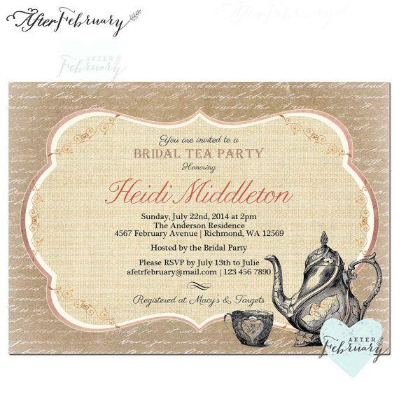 Tea Party Invitation Tea Party Invitation Old by AfterFebruary - tea party invitation
