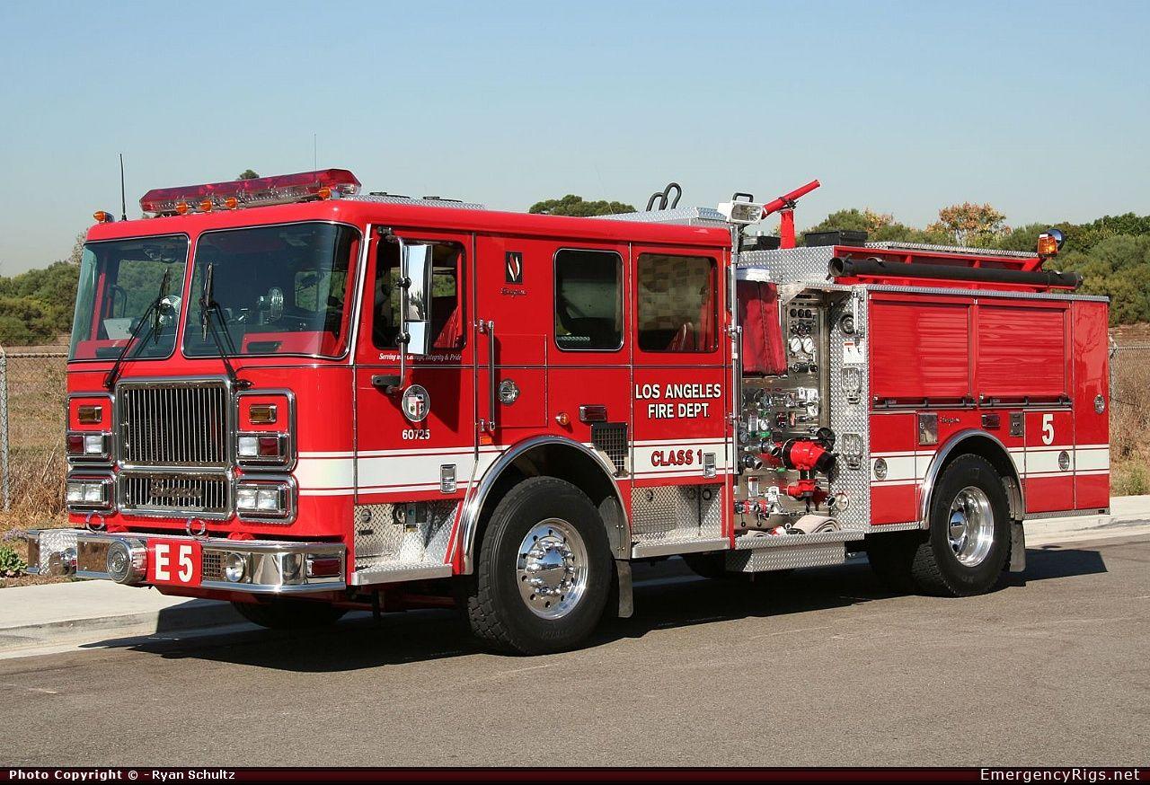 Seagrave Marauder Ii Pumper Los Angeles Fire Department Emergency Apparatus Fire Truck Photo Fire Trucks Los Angeles Fire Department Trucks