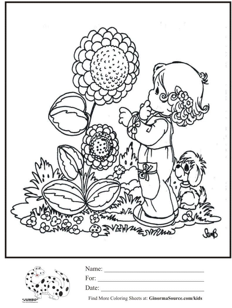 Precious Moments Coloring Pages on Pinterest Precious