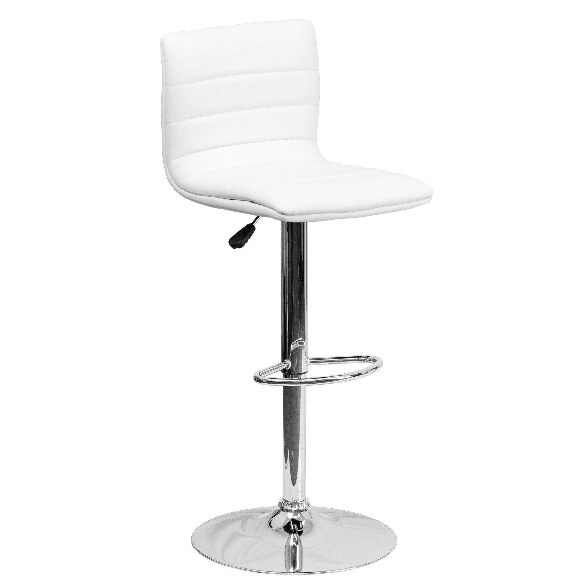 Flash Furniture Contemporary Vinyl Adjustable Height Bar Stool Vinyl Bar Stool Contemporary Bar Stools Adjustable Bar Stools